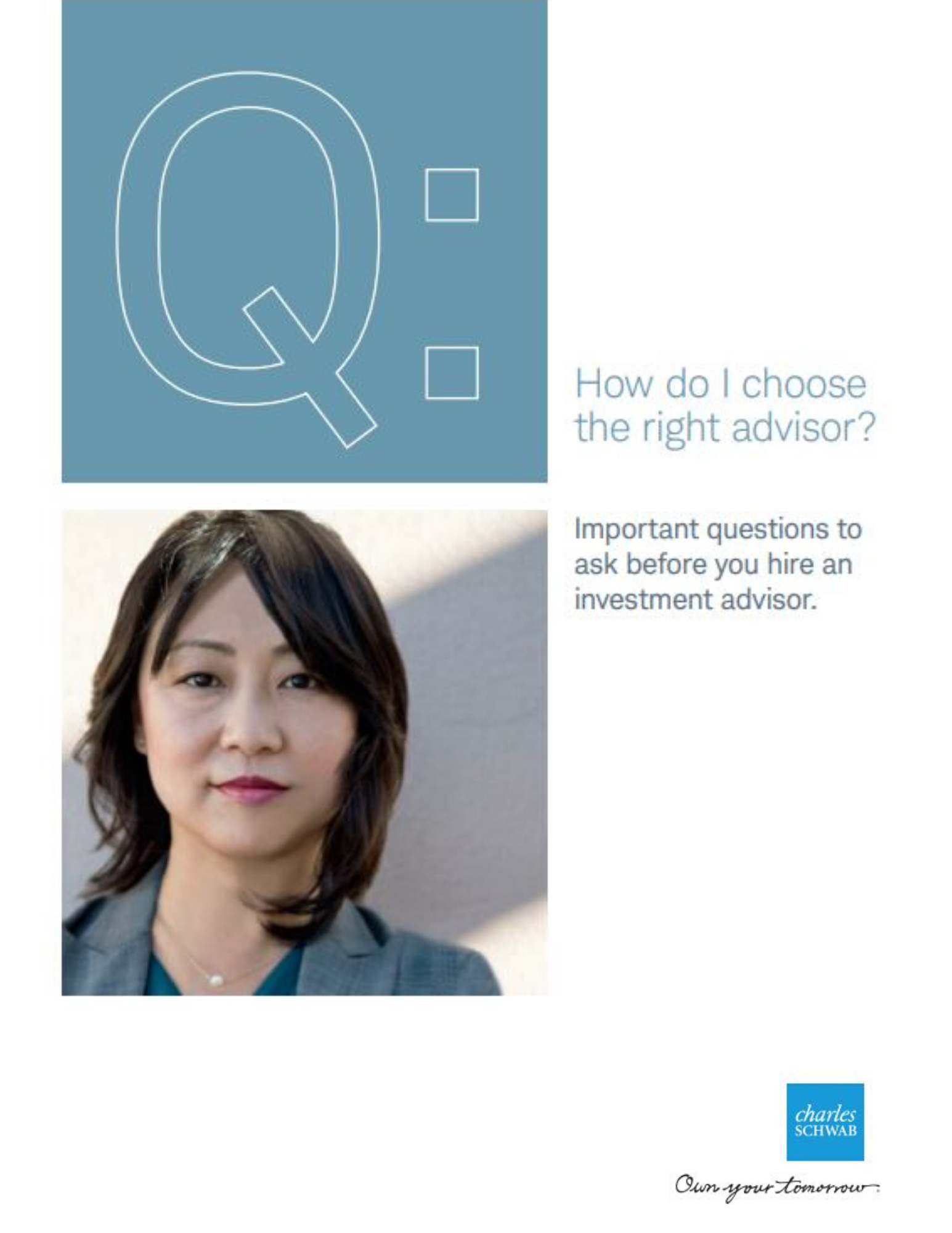 Choosing the right advisor